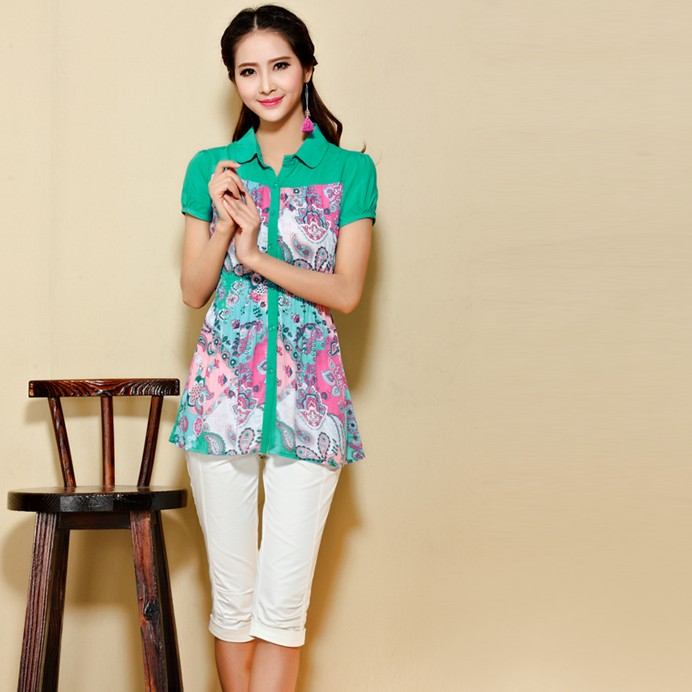 Short-Sleeved Blouse 7